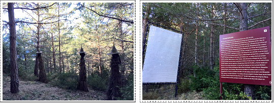 Bosque en Las Paules dedicado a la memoria de esas veintitrés mujeres acusadas de brujería y ejecutadas.