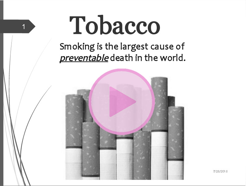 Tobacco-presentation