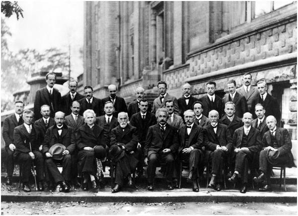 Conferencia Solvay: Electrones y fotones.