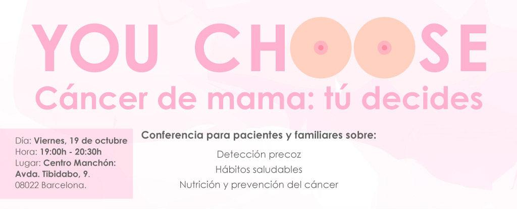 Charla cáncer de mama: tú decides
